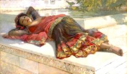 Nautch Girl Resting | Edwin Lord Weeks | Oil Painting
