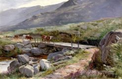Cattle Roaming the Welsh Countryside | Sidney Richard Percy | Oil Painting