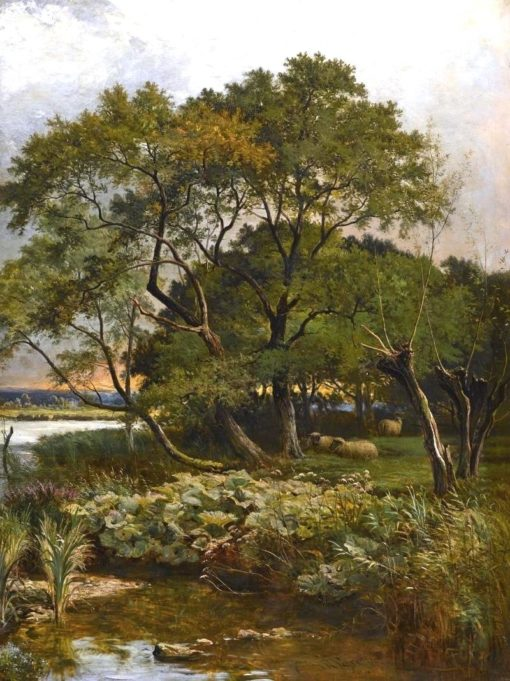 Banks of the River Stour | Sidney Richard Percy | Oil Painting