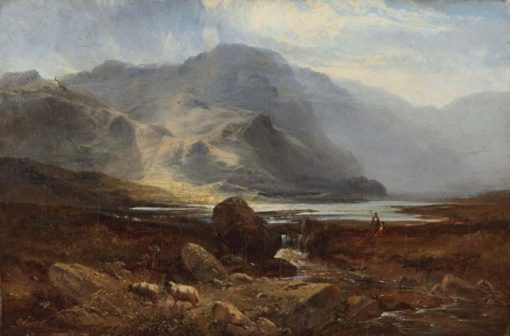 A Highland Lake   Sidney Richard Percy   Oil Painting