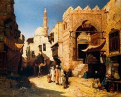 Cairo street scene | John Varley the Younger | Oil Painting