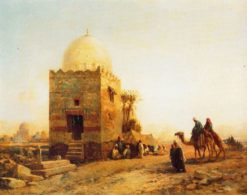 Tomb of Sheikh in South Cairo | John Varley the Younger | Oil Painting