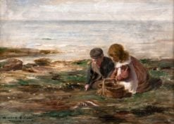 Children Gathering Mussels | William Marshall Brown | Oil Painting