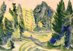 The Mountain   Ernst Ludwig Kirchner   Oil Painting