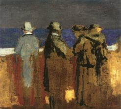 Four Figures on a Parapet | douard Vuillard | Oil Painting