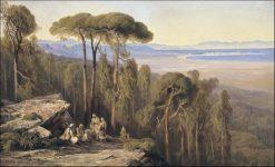 Marathon landscape | Edward Lear | Oil Painting