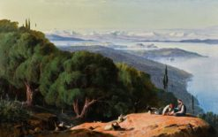 Corfu from the Hill of Gastouri | Edward Lear | Oil Painting