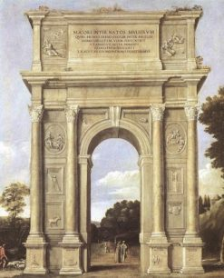 A Triumphal Arch of Allegories | Domenichino | Oil Painting