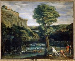 Landscape with Hercules and Achelous | Domenichino | Oil Painting