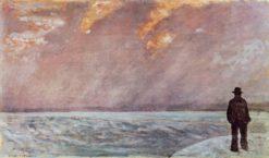 Sunset at sea | Giovanni Fattori | Oil Painting