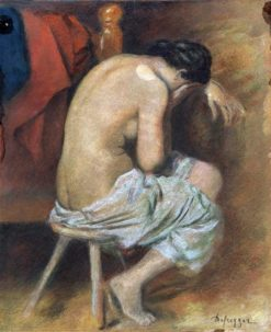 Nude from the back | Franz von Defregger | Oil Painting