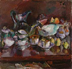 Still Life with Coffee Cups | Anton Faistauer | Oil Painting