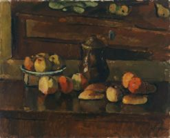 Fruit still life with a jug | Anton Faistauer | Oil Painting