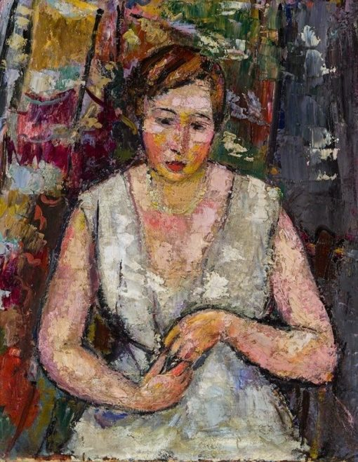 Young woman in summer dress | Anton Faistauer | Oil Painting