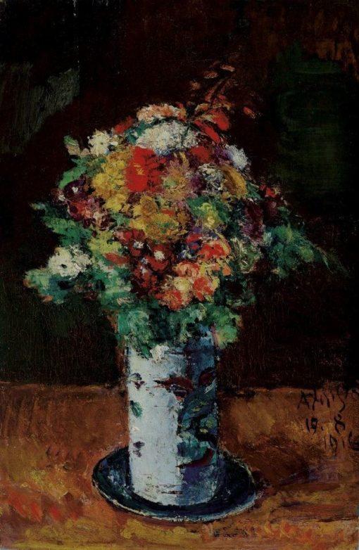 Bouquet on a plate | Anton Faistauer | Oil Painting