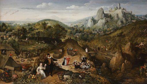 Autumn landscape (also known as September) | Lucas van Valckenborch | Oil Painting