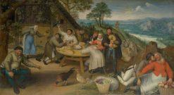 Peasant tavern | Lucas van Valckenborch | Oil Painting