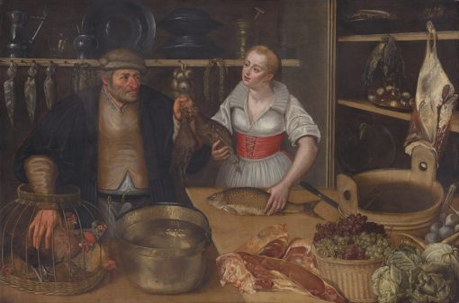Poultry Seller (also known as Market Scene) | Lucas van Valckenborch | Oil Painting