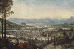 View of Linz | Lucas van Valckenborch | Oil Painting