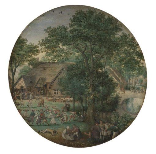 Peasant Wedding. The Wedding Dance in the Open Air. | Lucas van Valckenborch | Oil Painting