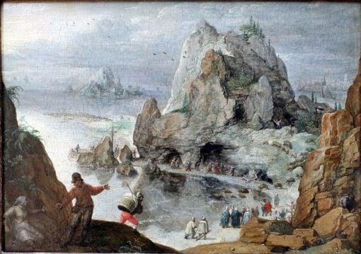 Exorcism of the Gerasene demoniac | Lucas van Valckenborch | Oil Painting