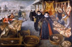 Meat and Fish Market (Winter) | Lucas van Valckenborch | Oil Painting