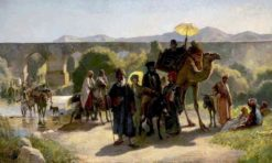 A Pilgrimage to the Jordan (also known as A Pilgrimage to the Jordan at the Greek Easter) | Edwin Lord Weeks | Oil Painting