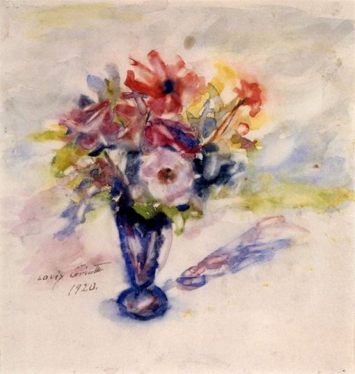 Blue Vase with Anemones | Lovis Corinth | Oil Painting