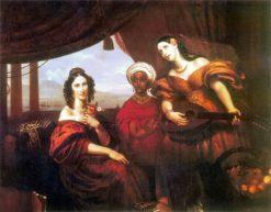 Countess Potocka and Her Sister Countess Shuvalova with an Ethiopian Servant | Orest Kiprensky | Oil Painting