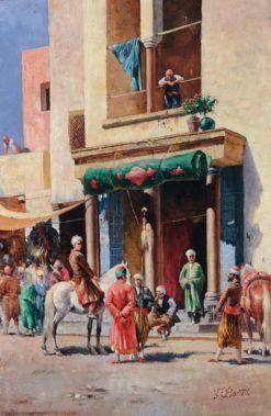Conversation in the street | Filippo Baratti | Oil Painting