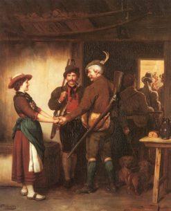 The hunters' farewell | Franz von Defregger | Oil Painting
