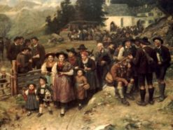 Pilgrims | Franz von Defregger | Oil Painting