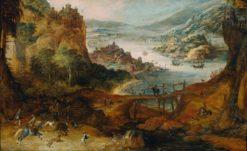 River Landscape | Joos de Momper the Younger | Oil Painting
