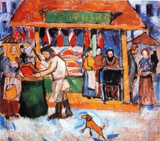 The Butcher's Shop | Alexei Morgunov | Oil Painting