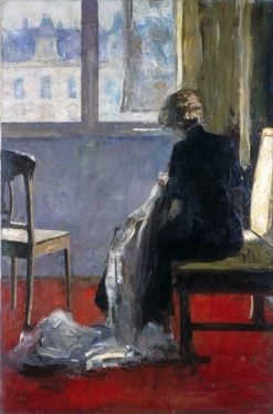 The Red Carpet | Lesser Ury | Oil Painting
