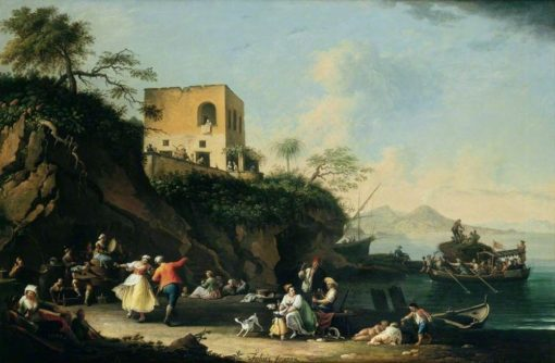 Peasants Merrymaking on the Shore at Posillipo