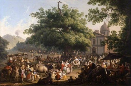 The Festival of the Madonna dell'Arco | Pietro Fabris | Oil Painting