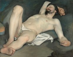 Reclining male nude | Guido Cagnacci | Oil Painting