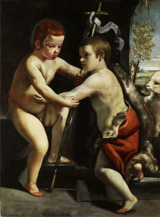 Jesus and John the Baptist as children | Guido Cagnacci | Oil Painting