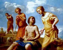 Jacob Peeling the Rods | Guido Cagnacci | Oil Painting