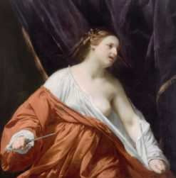 The Death of Lucretia | Guido Cagnacci | Oil Painting