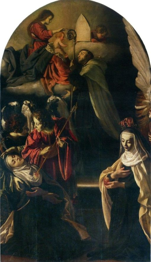 Madonna and Child with Saints | Guido Cagnacci | Oil Painting