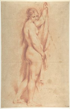 Standing Nude Female Figure | Guido Cagnacci | Oil Painting