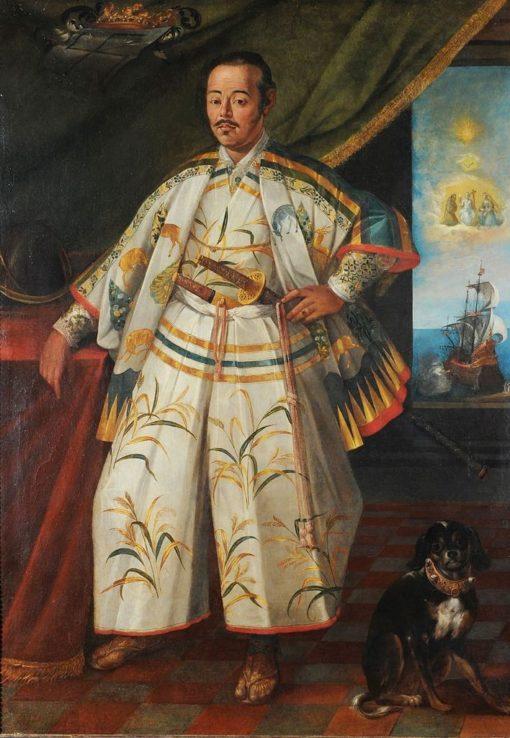 Hasekura Tsunenaga in Rome   Claude Deruet   Oil Painting