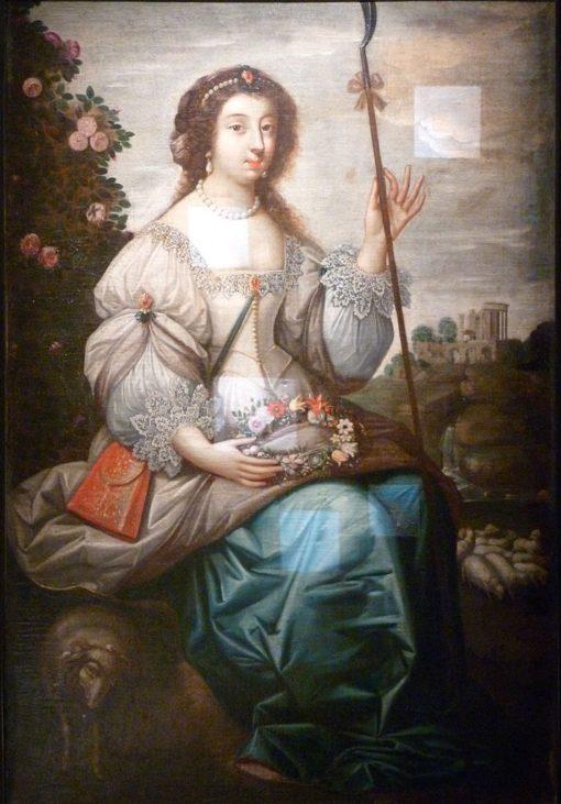 Portrait of Julie d'Angennes   Claude Deruet   Oil Painting