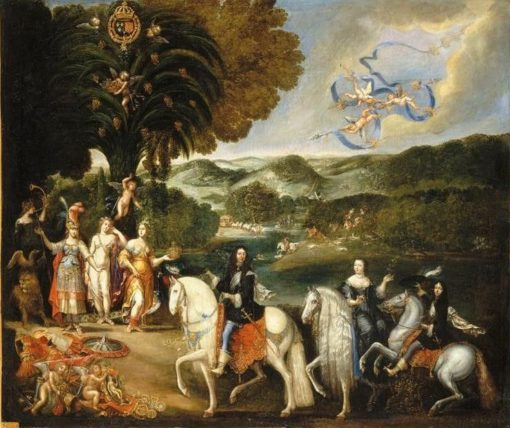 Allegory of the peace treaty of the Pyrenees   Claude Deruet   Oil Painting