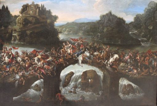 The battle between the Amazons and Greeks | Claude Deruet | Oil Painting