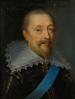 Portrait of a man with blue sash | Claude Deruet | Oil Painting