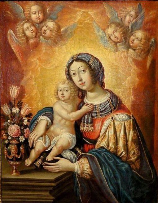 Virgin and Child   Claude Deruet   Oil Painting