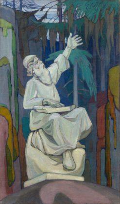 Vainamoinen Playing the Kantele | Alexander Bogomazov | Oil Painting